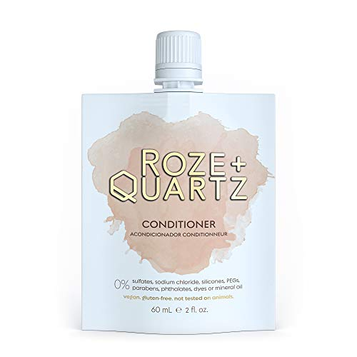 Roze + Quartz Hair Conditioner For Damaged Dry Hair-Paraben, Silicone & Sulfate Free Conditioner Hair Repair Treatment For Damaged Hair-Vegan Conditioner For Colored Hair & All Chemically Treated Hair