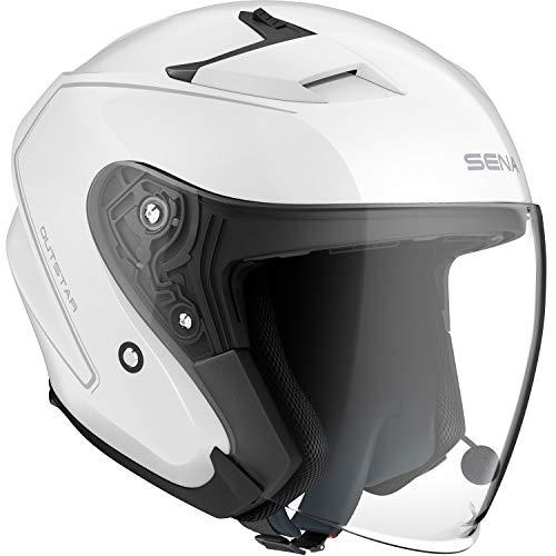 Sena OUTSTAR-GW00M Smart Helm, Weiß, M