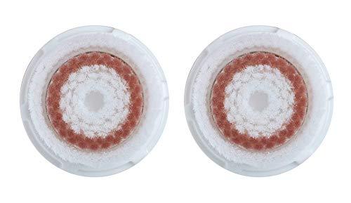 Cabezal de Cepillo de Limpieza Facial de Repuesto para Clari-sonic Mia1, Mia2, Mia3 (Aria), PRO, PLUS, SMART Profile, Alpha Fit y Radiance por Poweka (2 Piezas)