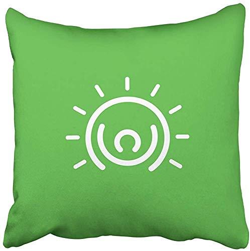 Doble Cojines Fundas 18' Comunidad Personas Logotipo Símbolo Persona Activa Hombre Feliz Cuerpo Mente Funda de Almohada Suave para la Piel