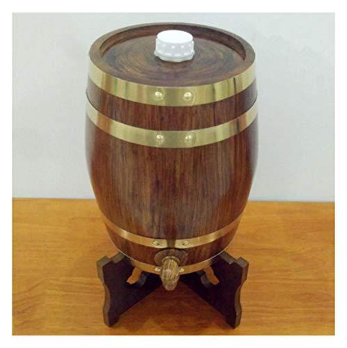 Eichenfass Eichen Fass für Whisky oder Wein 5L Vintage Eichenfass, Eiche Lagertank, Eingebauter Aluminiumfolie-Liner, passend für Dein eigenes Bier Weißwein Brandy Tequila Praktisch und langlebig Vint