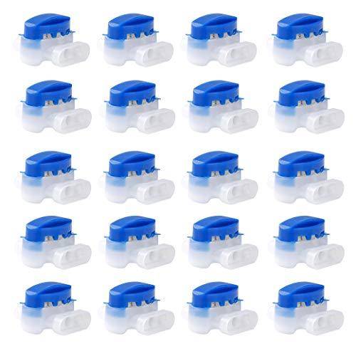 QIMEI-SHOP Morsetti per Cavi Impermeabile Connettore Cavo Riempito di Gel Resina per Rasaerba Robot Giardino Outdoor Husqvarna Automower 20 Pezzi