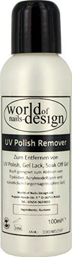 World of Nails-Design UV Polish Remover, Soak Off Gel Entferner, 100 ml