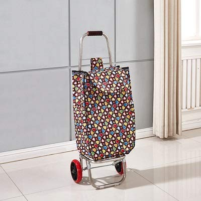 Carro de la compra WZGGZWGG para ancianos, cesta de la compra, cesta de la compra de escaleras, carro portátil de acero inoxidable (color 3, tamaño: gratis)
