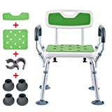 YSYD Bath Shower Seat Adjustable Height Spa Shower Chair with...