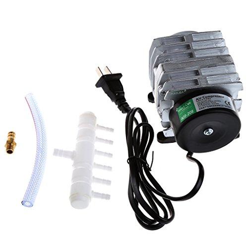 JAGETRADE 45L / min 25 Watt Elektromagnetische Luftkompressor Aquarium Sauerstoff Teich Luftpumpe Belüfter