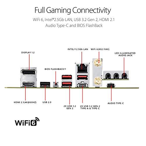ASUS ROG Strix B550-I Gaming AMD AM4 (3rd Gen Ryzen Mini-ITX SFF Gaming Motherboard (PCIe 4.0, WiFi 6, 2.5Gb LAN, DDR4 5100+ (O.C.), Front USB 3.2 Gen 2 Type-C, Addressable Gen 2 RGB and Aura Sync)