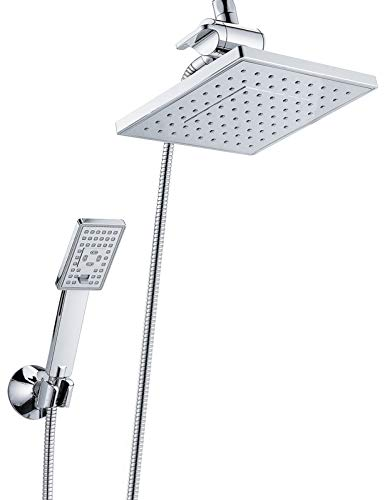Rain Shower head with Handheld Spray 5 ft. Shower Hose...