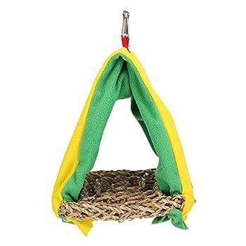 Jeanoko Nid d'oiseau Perroquet Triangle nid Oiseau hamac Triangle Chaud nid d'oiseau Happy Hut Tente lit pour Perruche calopsitte inséparable