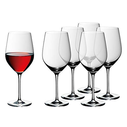 WMF Easy Plus Bordeaux Weingläser-Set 6-teilig, 630ml, Kristallglas, spülmaschinengeeignet, transparent