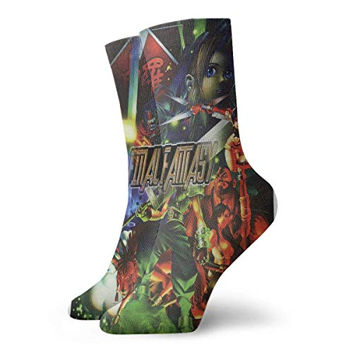 JONINOT Final Fantasy VII Characters FVII032 Game Calcetines Unisex Hombre Mujer Crew Calcetines
