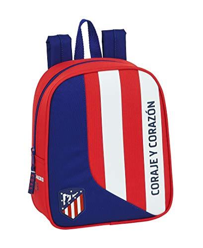 Safta 612045232 Mochila guardería niño Adaptable Carro Atlético de Madrid
