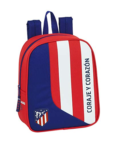Safta 612045232 Mochila guardería niño Adaptable Carro Atlético de Madrid