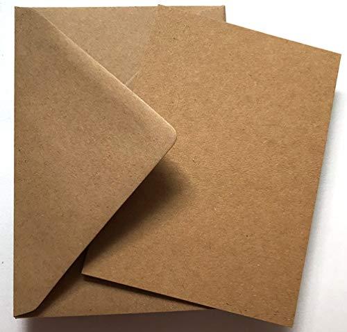 Cranberry Card Company - sobres y postales en blanco, tamaño A5, material papel kraft, Kraft Natural Brown, A5 148mmx210mm C5 162x229mm