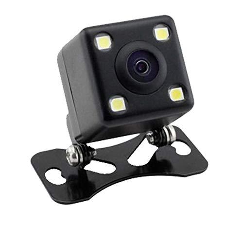 DHTENG Auto Asistencia Asistencia DE Aparcamiento Nuevo Cámara Trasera CCD CCD de visión Nocturna 4LED con cámara de Monitor Plegable de Video LCD de 4 Pulgadas. (Color Name : Black)