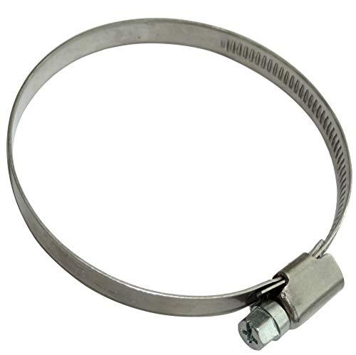 AERZETIX: 5 x Schlauchschelle mit Schrauben 60 – 80 mm Länge 9 mm für Rohr Garten Auto aus verchromtem Stahl DIN 3017 C42885