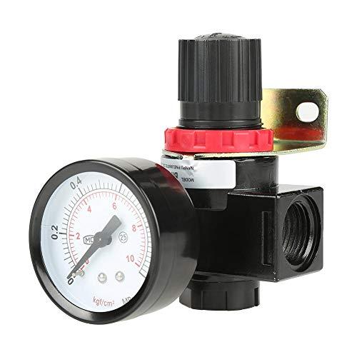 G1/2 drukregelaar met manometer, 1 stuks BR4000 luchtregelaar regelventiel voor perslucht gereedschap compressor, instelbaar van 0,05~1 MPa