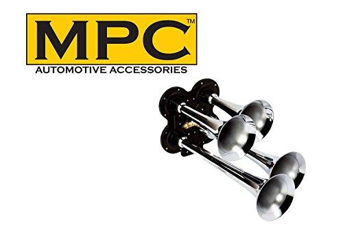 MPC 4 Trumpet Train Horn for Cars & Trucks 12 Volt w/Solenoid Valve