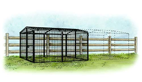 Regular 8 ft. Chicken Run, Large Steel 7'W x 8'L x 4'H Outdoor Enclosure Kennel for Poultry and Hens   Includes All Parts Needed for Assembly, Plus an Adapter