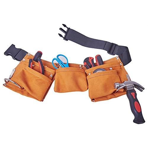 Favourall Gartenwerkzeug Tasche Robust Leder Gartengeräte Tasche 7 Fächer Mehrzweck Organizer Mit...
