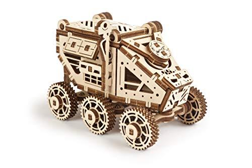 UGEARS Mars Buggy - 3D Holzpuzzle Modellbau Set - Kleiner Space Rover - Einfache Selbstmontage - Mechanischer Modellbausatz aus Holz für Erwachsene und Kinder - Geschenkidee für Jungen und Mädchen