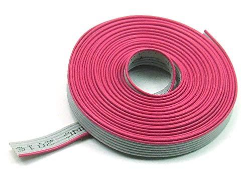 POPESQ® - 3 m x Flachbandkabel 6 polig 1.27mm für 2.54mm Verbinder #A1509