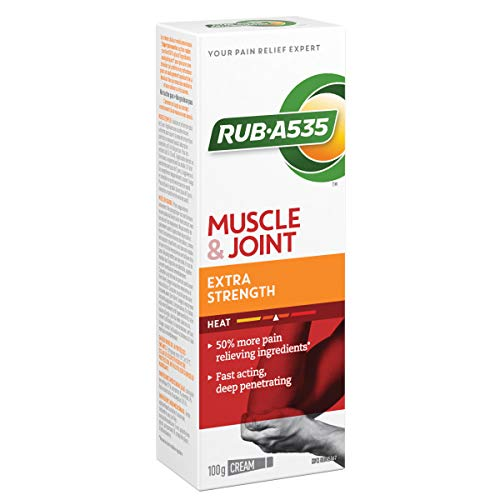 Rub-A535 Muscle & Joint Pain Relieving Heat Cream, Extra Strength, 100-g