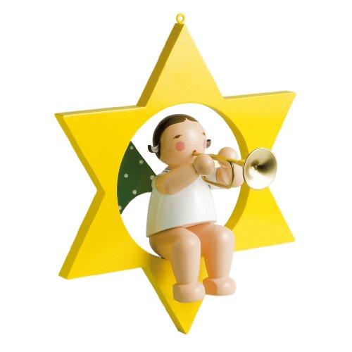 Wendt & Kühn Engel mit Trompete im Stern, groß