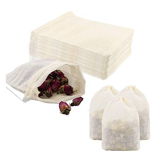 Pveath Bolsa de algodón con cordón, 60/20 unidades, bolsa de algodón pequeña con cordón, bolsa de tela para verduras y frutas, bolsa de alimentos para bodas, fiestas, festivales, almacenes 20 x 30 cm