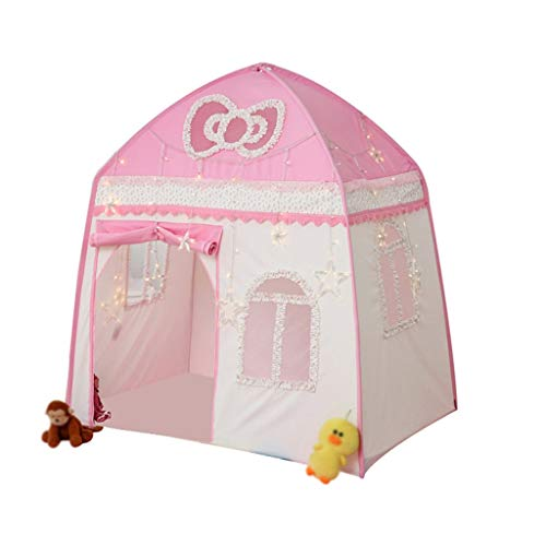 CSQ Pink Tent with Bow-shaped Skylight, Blue Play Tent with Cloud Skylight Play House Tents for Boys, Girls - Fun Games Children's play house (Color : Pink, Size : 150 * 100 * 150CM)