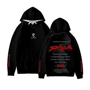 Memorial Rapper XXX Hoodie Hip Hop Pullover Unisex Sweatshirt Black