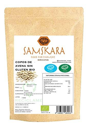 Copos de avena ¨Oat flakes gluten free ¨ de cultivo Ecológica | Frutos Secos a granel gran formato ahorro | BIO | Samskara (20 KG)