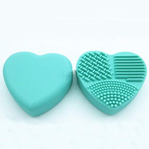 1 Stück Silikon Make-up Pinsel Reinigung Make-up Pinsel Reiniger Herzhandschuh Kosmetik Pinsel Reinigungsmatte Tragbare Waschwerkzeuge