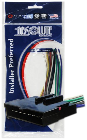 Absolute USA H594/1770 Radio Wiring Harness for Ford/Lincoln/Mercury 1986-2004 Power 4 Speaker (70-1770, FWH-594)