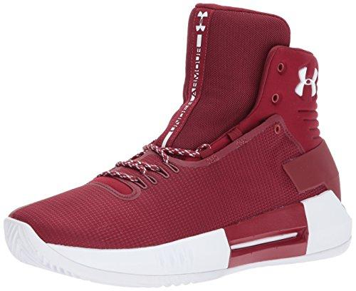 Under Armour Men's Team Drive 4 Basketball Shoe, Cardinal (606)/Cardinal, 8