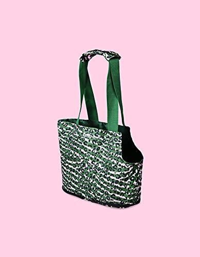 United Pets Lazy Dog Transporttasche für Hunde, leicht, faltbar, Camouflage-Grün, Rosa – 250 g