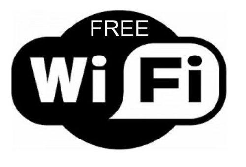 Free Wifi-Aufkleber, englischsprachiger Aufdruck, Abziehbild