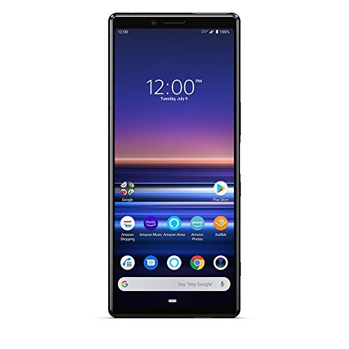 "Sony Xperia 1 with Alexa Hands-Free - Unlocked Smartphone - 128GB - Black - (US Warranty) in 6.5"" 4K HDR OLED CinemaWide Display"