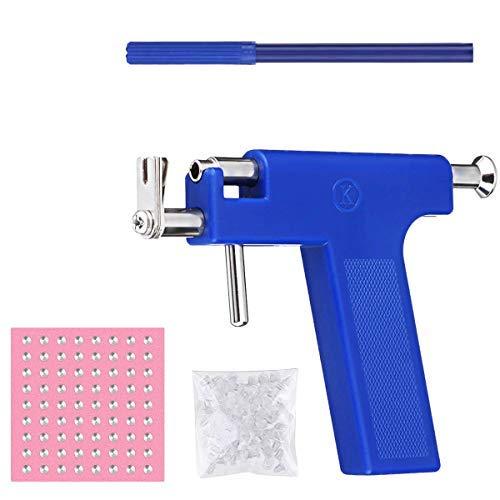 Kit de herramientas para piercing de oreja, juego de herramientas para pendientes, orejas, nariz, ombligo, labio, perforador de máquina, agujero de cuerpo de acero inoxidable..