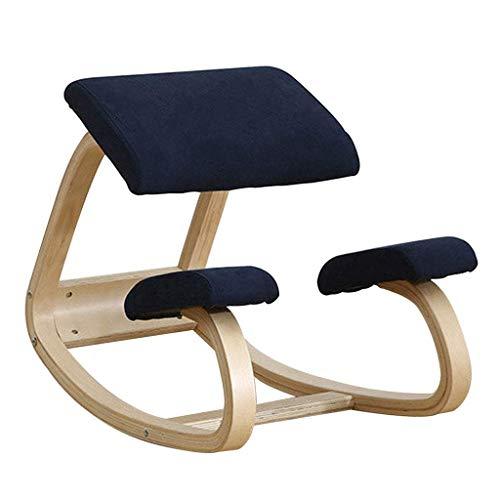 LEILEI Kniestühle Korrekturstuhl Kinderkorrekturstuhl Ergonomisches Büro Massivholz-Haltungsstuhl (Farbe:Blau,Größe:70 * 40 * 50 cm)