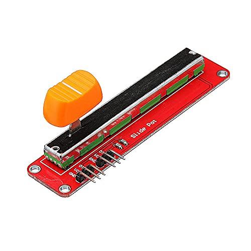 Módulo electrónico Doble potenciómetro analógico Módulo con la diapositiva potenciómetro resistencia al deslizamiento ajustable Geekcreit for A-r-d-u-i-n-o - productos que funcionan con placas A-r-d-u