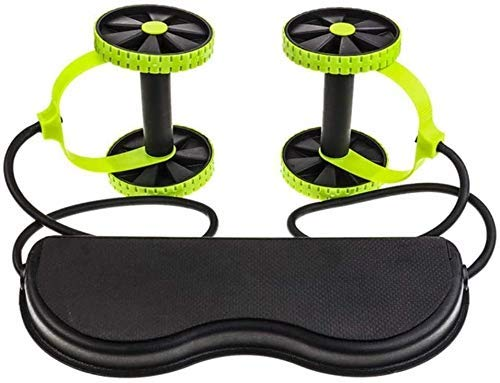 AB Roller Exercise Wheel AB Wheels Abdominal Wheels Roller Trainer Stretch Elastic Abdominal Resistance Pull Rope Exercise Fitness Tool Multifunctional,Green