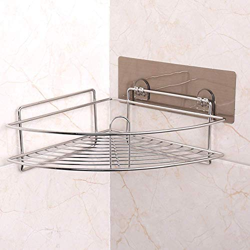YANGSANJIN Geen boren muur badkamer douche Caddy RVS toiletten opslag mand rek vochtbestendig driehoek Basket keuken roestbescherming corner frame-organisator houder