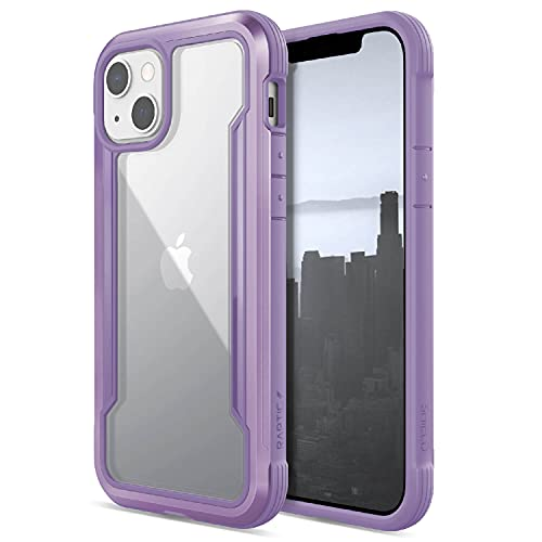 Raptic Shield Case Compatible with iPhone 13 Case, Shock Absorbing Protection, Durable Aluminum Frame, 10ft Drop Tested, Fits iPhone 13, Purple