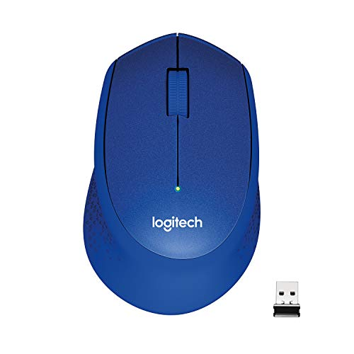 Logitech M330 Silent Plus Ratón Inalámbrico, 2,4 GHz con Nano-Receptor USB, Seguimiento 1000 DPI, 3 Botones, Batería 24 Meses, Compatible con PC/ Mac/Portátil/Chromebook - Azul