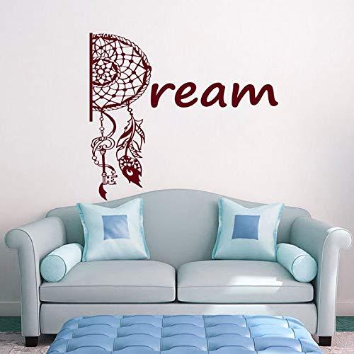 Buenos sueños pegatinas de pared pegatinas de vinilo de protección atrapasueños vivero dormitorio de los niños habitación del bebé estilo indio decoración del hogar