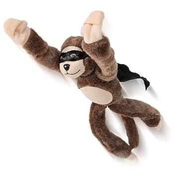 Playmaker Toys Flingshot Flying Monkey Plush Toy Brown