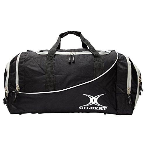 Gilbert Rugby Club Sporttasche Senior Spieler Reistasche Großes Fach schwarz schwarz/schwarz 35 x 62 x 30 cm