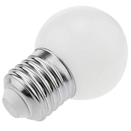 PrimeMatik - LED Birne G45 0,5W 230VAC E27 weiss warm