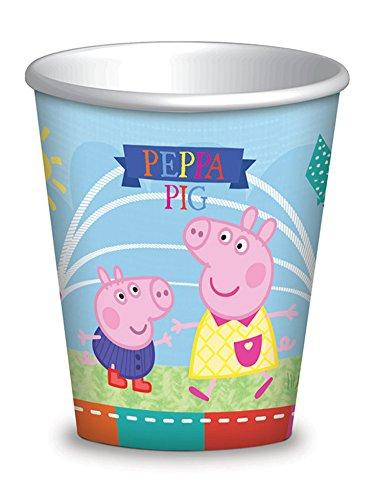 Como Giochi 5CG236095 Gobelet papier Peppa Pig, multicolore - Pack de 8